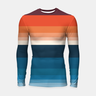 Miniature de image de HORIZON STRIPE IN ORANGE & BLUE Longsleeve rashguard , Live Heroes