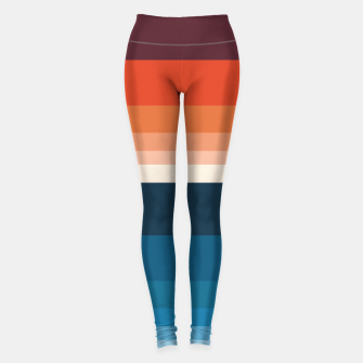 Miniature de image de HORIZON STRIPE IN ORANGE & BLUE Leggings, Live Heroes