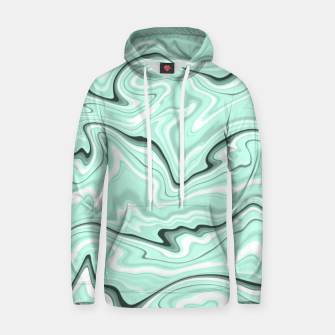 Miniature de image de Ice cold blue marble stone, light turquoise color print Hoodie, Live Heroes