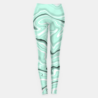 Miniature de image de Ice cold blue marble stone, light turquoise color print Leggings, Live Heroes
