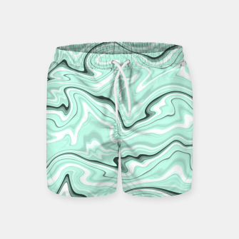Miniature de image de Ice cold blue marble stone, light turquoise color print Swim Shorts, Live Heroes