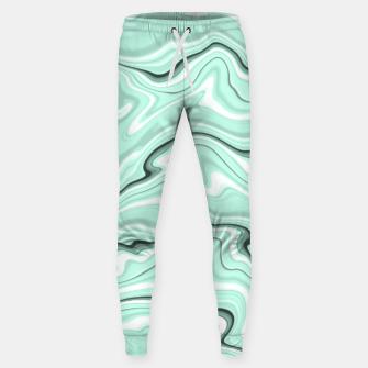 Miniature de image de Ice cold blue marble stone, light turquoise color print Sweatpants, Live Heroes