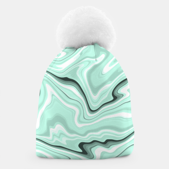 Miniature de image de Ice cold blue marble stone, light turquoise color print Beanie, Live Heroes