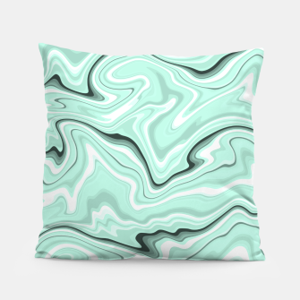 Miniature de image de Ice cold blue marble stone, light turquoise color print Pillow, Live Heroes