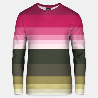 Thumbnail image of HORIZON STRIPE IN PINK & GREEN Unisex sweater, Live Heroes