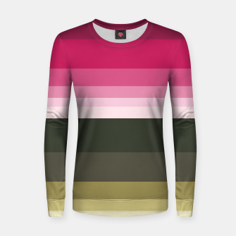 Miniature de image de HORIZON STRIPE IN PINK & GREEN Women sweater, Live Heroes