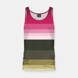 Miniature de image de HORIZON STRIPE IN PINK & GREEN Tank Top, Live Heroes