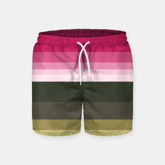 Miniature de image de HORIZON STRIPE IN PINK & GREEN Swim Shorts, Live Heroes