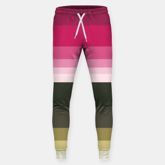 Miniature de image de HORIZON STRIPE IN PINK & GREEN Sweatpants, Live Heroes
