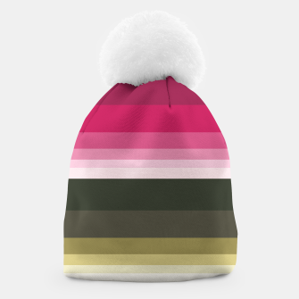Thumbnail image of HORIZON STRIPE IN PINK & GREEN Beanie, Live Heroes