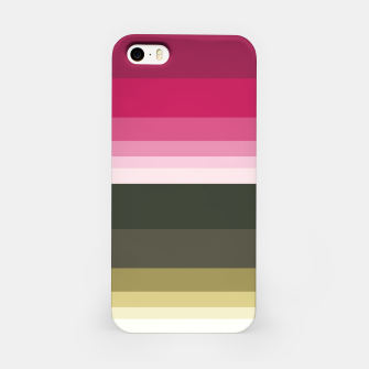 Miniature de image de HORIZON STRIPE IN PINK & GREEN iPhone Case, Live Heroes