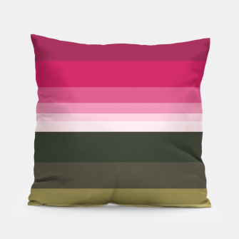 Miniature de image de HORIZON STRIPE IN PINK & GREEN Pillow, Live Heroes