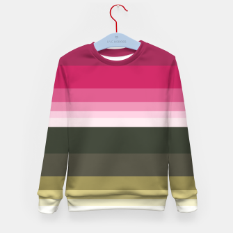 Miniature de image de HORIZON STRIPE IN PINK & GREEN Kid's sweater, Live Heroes