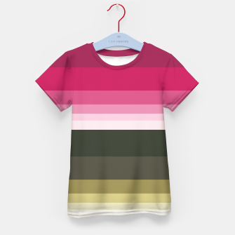 Miniature de image de HORIZON STRIPE IN PINK & GREEN Kid's t-shirt, Live Heroes
