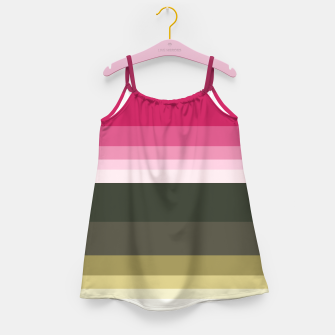 Miniature de image de HORIZON STRIPE IN PINK & GREEN Girl's dress, Live Heroes