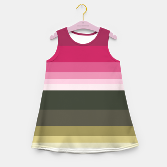 Miniature de image de HORIZON STRIPE IN PINK & GREEN Girl's summer dress, Live Heroes