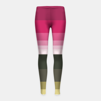 Miniature de image de HORIZON STRIPE IN PINK & GREEN Girl's leggings, Live Heroes