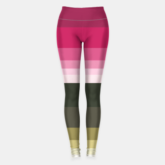 Miniature de image de HORIZON STRIPE IN PINK & GREEN Leggings, Live Heroes