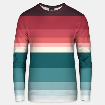 Miniature de image de HORIZON STRIPE IN RED & TEAL Unisex sweater, Live Heroes