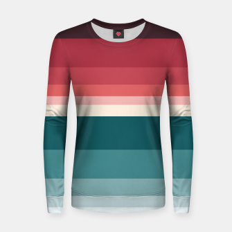 Miniature de image de HORIZON STRIPE IN RED & TEAL Women sweater, Live Heroes