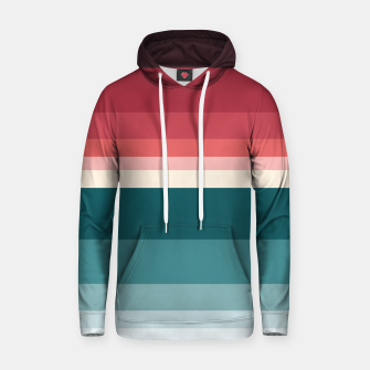 Miniature de image de HORIZON STRIPE IN RED & TEAL Hoodie, Live Heroes