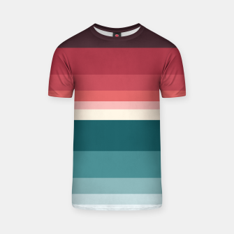 Thumbnail image of HORIZON STRIPE IN RED & TEAL T-shirt, Live Heroes