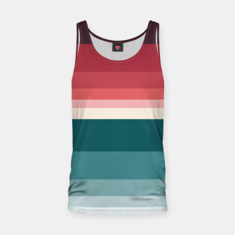 Miniature de image de HORIZON STRIPE IN RED & TEAL Tank Top, Live Heroes