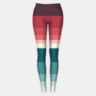 Miniature de image de HORIZON STRIPE IN RED & TEAL Leggings, Live Heroes
