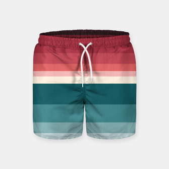 Miniature de image de HORIZON STRIPE IN RED & TEAL Swim Shorts, Live Heroes