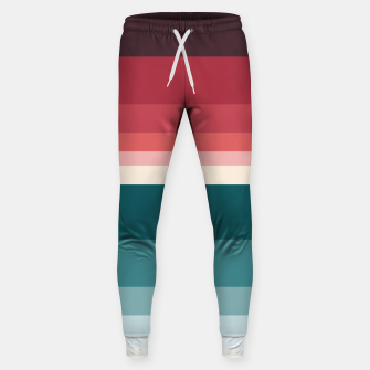 Miniature de image de HORIZON STRIPE IN RED & TEAL Sweatpants, Live Heroes