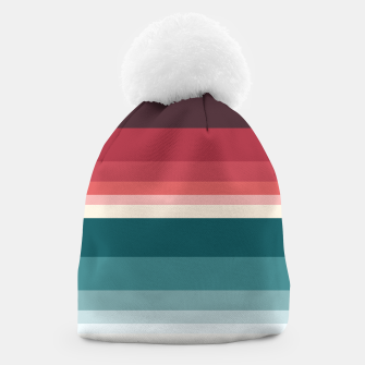 Miniature de image de HORIZON STRIPE IN RED & TEAL Beanie, Live Heroes