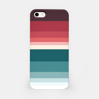 Miniature de image de HORIZON STRIPE IN RED & TEAL iPhone Case, Live Heroes