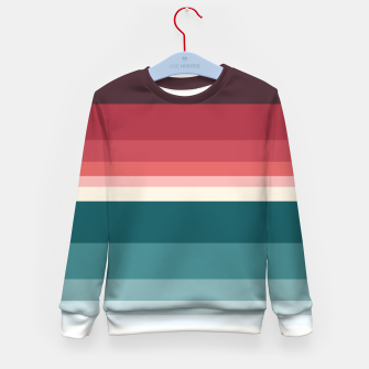 Miniature de image de HORIZON STRIPE IN RED & TEAL Kid's sweater, Live Heroes