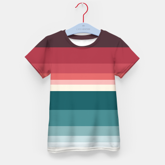 Miniature de image de HORIZON STRIPE IN RED & TEAL Kid's t-shirt, Live Heroes