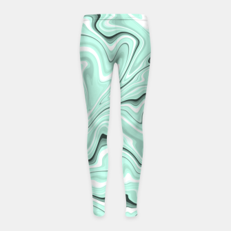 Miniature de image de Ice cold blue marble stone, light turquoise color print Girl's leggings, Live Heroes