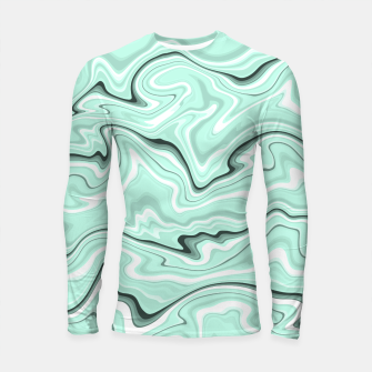 Thumbnail image of Ice cold blue marble stone, light turquoise color print Longsleeve rashguard , Live Heroes
