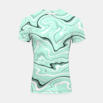 Miniature de image de Ice cold blue marble stone, light turquoise color print Shortsleeve rashguard, Live Heroes