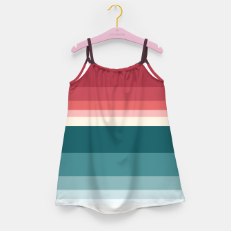 Miniature de image de HORIZON STRIPE IN RED & TEAL Girl's dress, Live Heroes