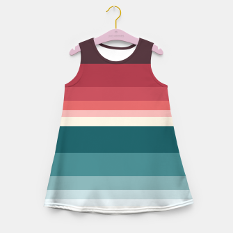 Miniature de image de HORIZON STRIPE IN RED & TEAL Girl's summer dress, Live Heroes