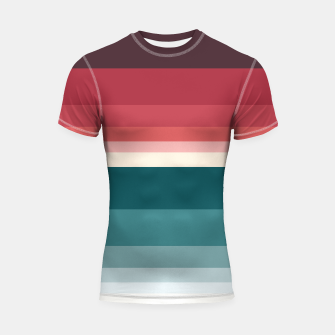 Miniature de image de HORIZON STRIPE IN RED & TEAL Shortsleeve rashguard, Live Heroes