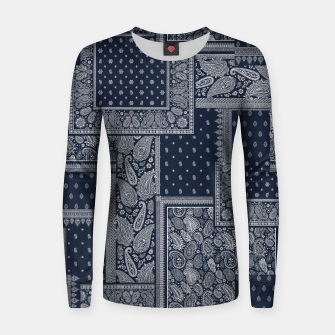 PATCHWORK BANDANA PRINT IN NAVY Women sweater thumbnail image