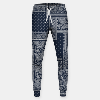 PATCHWORK BANDANA PRINT IN NAVY Sweatpants thumbnail image
