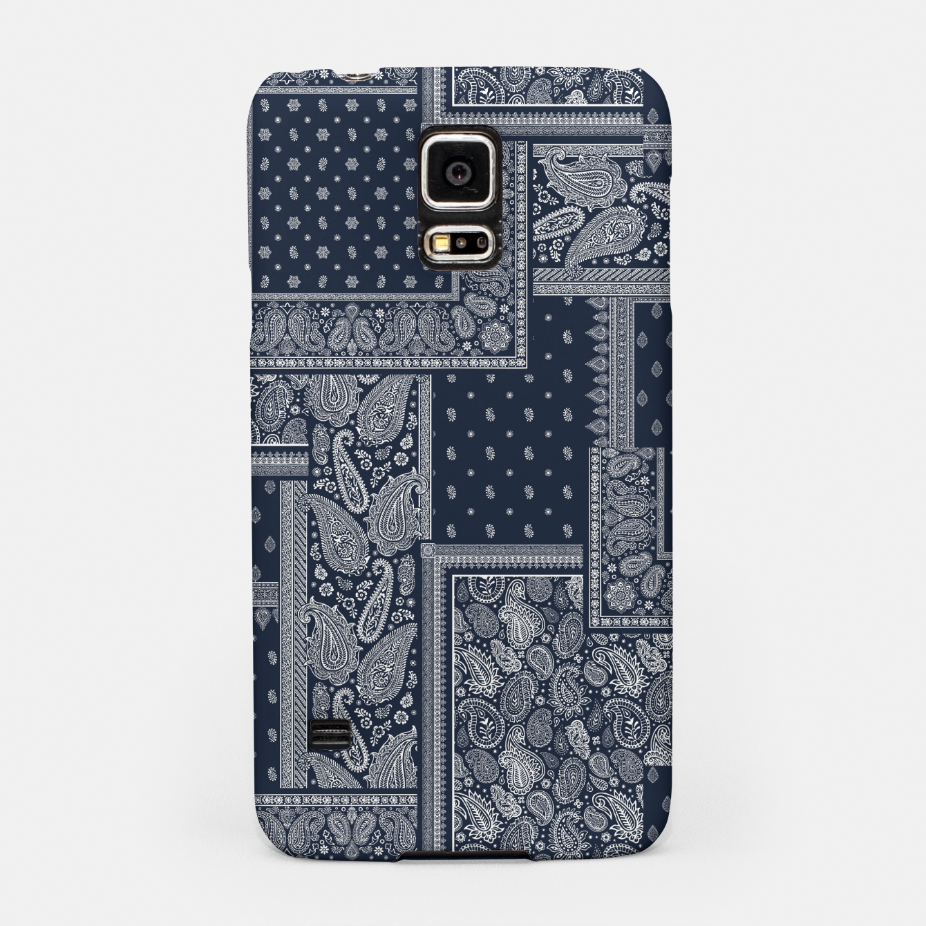 Image of PATCHWORK BANDANA PRINT IN NAVY Samsung Case - Live Heroes