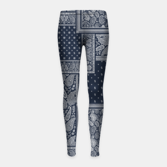 PATCHWORK BANDANA PRINT IN NAVY Girl's leggings thumbnail image