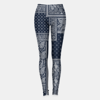 PATCHWORK BANDANA PRINT IN NAVY Leggings thumbnail image