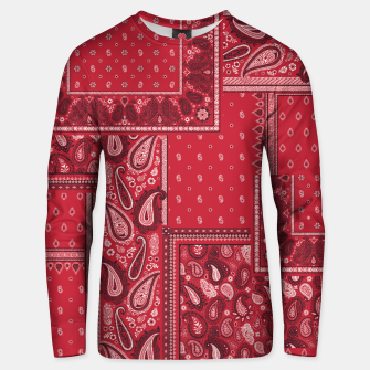 Thumbnail image of PATCHWORK BANDANA PRINT IN RED Unisex sweater, Live Heroes