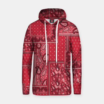 Thumbnail image of PATCHWORK BANDANA PRINT IN RED Hoodie, Live Heroes