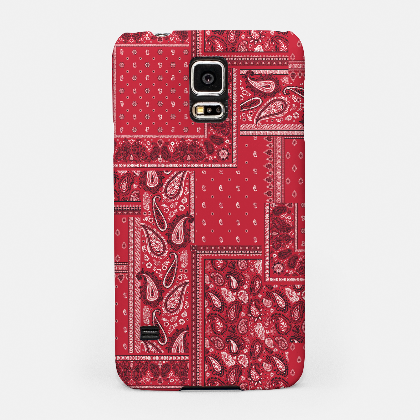 Image of PATCHWORK BANDANA PRINT IN RED Samsung Case - Live Heroes