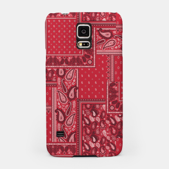PATCHWORK BANDANA PRINT IN RED Samsung Case thumbnail image
