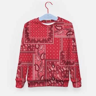 PATCHWORK BANDANA PRINT IN RED Kid's sweater thumbnail image